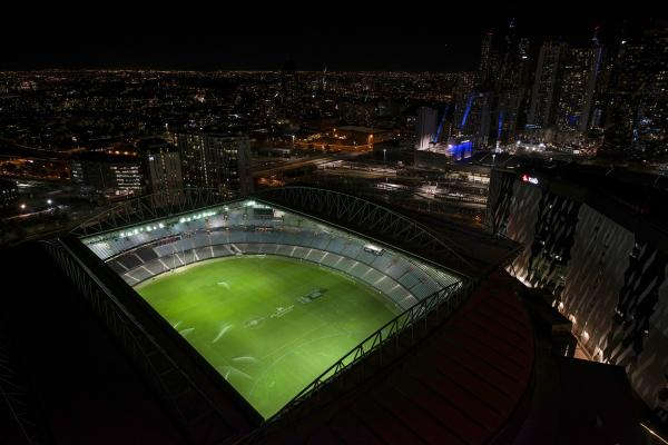 ACTUAL VIEW into ETIHAD STADIUM
